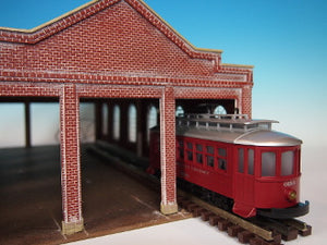 Korber Models #307A - O Scale - Trolley Barn Extension Kit