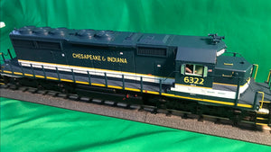 "MTH 20-21167-1 - SD40-2 Diesel Engine ""Chesapeake & Indiana"" #6322 w/ PS3"