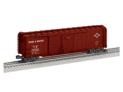 "Lionel 1926471 - 50' Double Door Boxcars ""Texas & Pacific"" #70707"