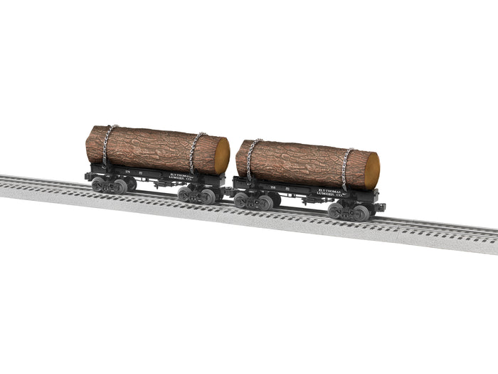 Lionel L-1926550 Ely Thomas Skeleton Log Car 2 Pack B