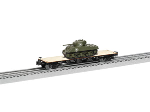 Lionel L-1926702 Boston & Maine 40' Flatcar with Sherman Tank #33745
