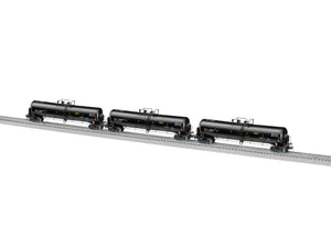 Lionel L-1926790 TILX (black) 30K Tank Car 3 Pack