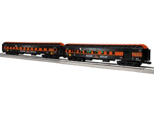 "Lionel 1927080 - 18"" Passenger Car ""ELX Midnight Special"" (2-Car) Pack #2"