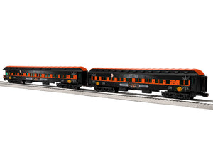 "Lionel 1927090 - 18"" Passenger Car ""ELX Midnight Special"" (2-Car) Pack #3"