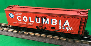 "MTH 20-94413 - 36' Woodsided Reefer Car ""Columbia Soups"""