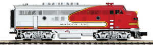 "MTH 20-20765-4 - F-3 A Unit Non-Powered Diesel Engine ""Santa Fe"" (Hi-Rail Wheels)"