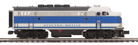 "MTH 20-20771-4 - F-3 A Unit Non-Powered Diesel Engine ""Electro Motive Division"" (Hi-Rail Wheels)"