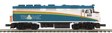 "MTH 20-20796-1 - F40PH Diesel Engine ""Florida Tri-Rail"" w/ PS3 (Hi-Rail Wheels)"