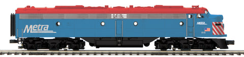 "MTH 20-20851-1 - E-8 A Unit Diesel Engine ""Metra"" w/ PS3 (Hi-Rail Wheels)"