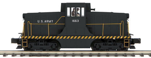 "MTH 20-20874-1 - G.E. 44 Ton Phase 3 Diesel Engine ""U.S. Army"" #1663 w/ PS3 (Hi-Rail Wheels)"
