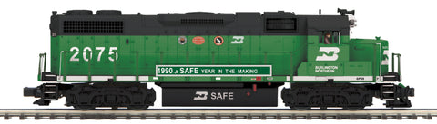 "MTH 20-20902-1 - GP38-2 Diesel Engine ""Burlington Northern"" #2075 w/ PS3 (Hi-Rail Wheels)"