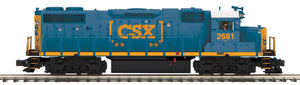 "MTH 20-20905-1 - GP38-2 Diesel Engine ""CSX"" #2681 w/ PS3 (Hi-Rail Wheels)"