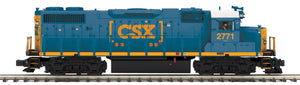 "MTH 20-20906-1 - GP38-2 Diesel Engine ""CSX"" #2771 w/ PS3 (Hi-Rail Wheels)"