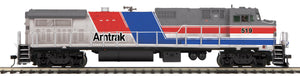 "MTH 20-20910-1 - Dash 8-40BW Diesel Engine ""Amtrak"" w/ PS3 (Hi-Rail Wheels)"