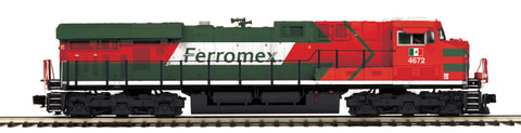 "MTH 20-20923-1 - ES44AC Diesel Engine ""Ferromex"" #4672 w/ PS3 (Hi-Rail Wheels)"
