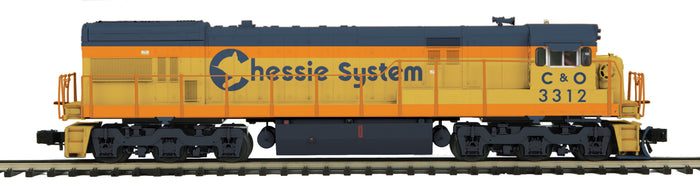 "MTH 20-20929-1 - GE U30C Diesel Engine ""Chessie"" w/ PS3 (Hi-Rail Wheels) #3312"