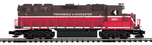 "MTH 20-21020-1 - GP-40 Diesel Engine ""Providence & Worchester"" #3001 w/ PS3 (Hi-Rail Wheels)"