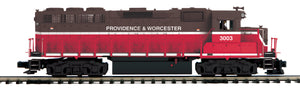 "MTH 20-21021-1 - GP-40 Diesel Engine ""Providence & Worchester"" w/ PS3 (Hi-Rail Wheels)"