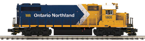 "MTH 20-21082-1 - GP38-2 Diesel Engine ""Ontario Northland Railway"" #1805 w/ PS3 (Hi-Rail Wheels)"