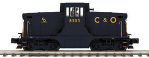 MTH 20-21394-1 Chesapeake & Ohio G.E. 44 Ton Phase 3 Diesel Engine w/Proto-Sound 3.0 (Hi-Rail Wheels)