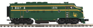 MTH 20-21454-4 Jersey Central F-3 A Unit Non-Powered Diesel Engine (Hi-Rail Wheels)