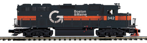 MTH 20-21465-1 Boston & Maine GP-40 Diesel Engine w/Proto-Sound 3.0 (Hi-Rail Wheels)