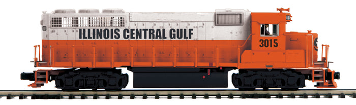MTH 20-21472-1 Illinois Central Gulf GP-40 Diesel Engine w/Proto-Sound 3.0 (Hi-Rail Wheels)