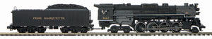 MTH 20-3799-1 Pere Marquette 2-8-4 Berkshire Steam Engine w/Proto-Sound 3.0 (Hi-Rail Wheels)