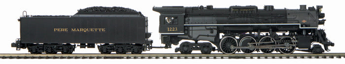 MTH 20-3799-1 Pere Marquette 2-8-4 #1223 Berkshire Steam Engine w/Proto-Sound 3.0 (Hi-Rail Wheels)