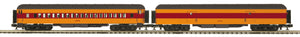 "MTH 20-40076 - 70' Madison Baggage/Coach Passenger Set ""Milwaukee Road"" (2-Car)"