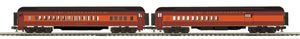 "MTH 20-41041 - 70' Madison Comb/Din Passenger Set ""Chicago & Alton"" (2-Car)"