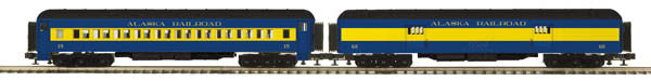 "MTH 20-44020 - 70' Madison Baggage/Coach Passenger Set ""Alaska"" (2-Car)"