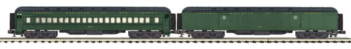 "MTH 20-44029 - 70' Madison Baggage/Coach Passenger Set ""Jersey Central"" (2-Car)"