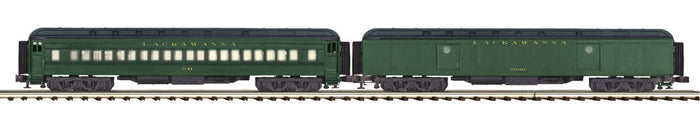 "MTH 20-44032 - 70' Madison Baggage/Coach Passenger Set ""Lackawanna"" (2-Car)"