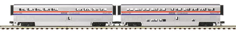 "MTH 20-61040 - SuperLiner Coach Set ""Amtrak"" (2-Car) Phase III"