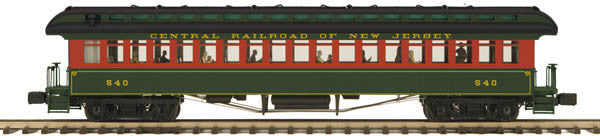 "MTH 20-62061 - 64' Woodsided Coach Car ""Jersey Central"""