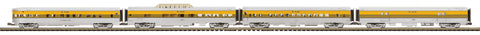 "MTH 20-64000 - 70' Streamlined Passenger Set ""Denver & Rio Grande"" (4-Car)"