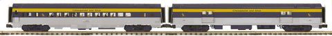 "MTH 20-64007 - 70' Streamlined Baggage/Coach Passenger Set ""Chesapeake & Ohio"" (2-Car)"