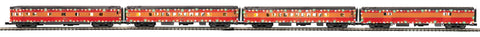 "MTH 20-64018 - 70' Streamlined Passenger Set ""Southern Pacific"" w/ LED Lights (4-Car)"