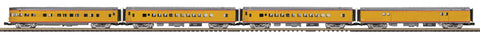 MTH 20-64023 Union Pacific 4-Car 70' Streamlined Passenger Set  (Smooth Sided)