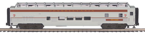 MTH 20-64066 Pennsylvania 70' Streamlined Full Length Vista Dome Passenger Car (Ribbed Sided)