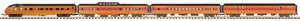 "MTH 20-64075 - 70' Streamlined Passenger Set ""Milwaukee Road"" (4-Car) Smooth Sided"