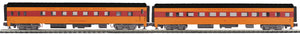 "MTH 20-64076 - 70' Streamlined Slpr/Diner Passenger Set ""Milwaukee Road"" (2-Car) Smooth Sided"