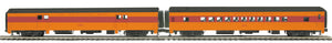 "MTH 20-64077 - 70' Streamlined Baggage/Coach Passenger Set ""Milwaukee Road"" (2-Car) Smooth Sided"