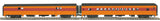 MTH 20-64077 Milwaukee Road 2-Car 70' Streamlined Baggage/Coach Passenger Set (Smooth Sided)