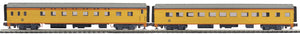 MTH 20-64204 Chessie 2-Car 70' ABS Slpr/Diner Passenger Set (Smooth)