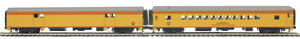 MTH 20-64205 Chessie 2-Car 70' ABS Baggage/Coach Passenger Set  (Smooth)