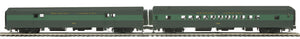 MTH 20-64210 Reading 2-Car 70' ABS Baggage/Coach Passenger Set  (Smooth)