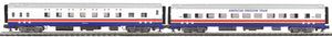 MTH 20-64214 American Freedom 2-Car 70' ABS Slpr/Diner Passenger Set (Smooth)