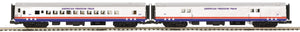 MTH 20-64215 American Freedom 2-Car 70' ABS Baggage/Coach Passenger Set  (Smooth)